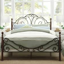 Fabric Nailhead Headboard Bed Frame Frame Design White Iron Canopy Fabric Nailhead