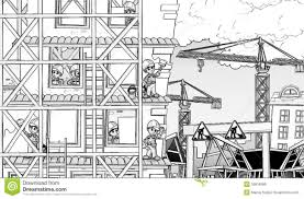 construction site coloring page stock illustration image 39918999