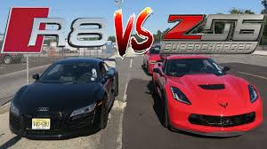 bmw z10 supercar we finally raced our cars audi r8 v10 vs corvette z06 c7