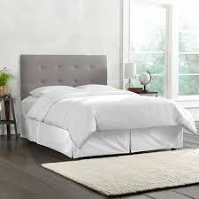 Grey Tufted Headboard Skyline Furniture California King Tufted Headboard In Linen Grey