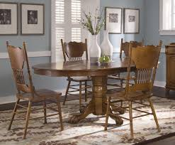 single pedestal table and side chair set by liberty furniture