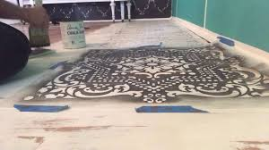 how to paint a floor with chalk paint part 1 painting stenciling