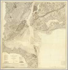 Map Of Old New York by Map Of New York Bay And Harbor And The Environs David Rumsey