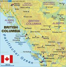 map of bc map of columbia canada map in the atlas of the