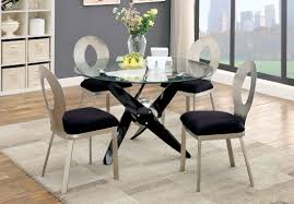 Modern Round Dining Table Sets Round Glass Top Modern Table