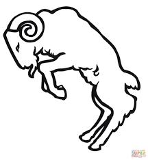 ram outline coloring page print download animal free printable