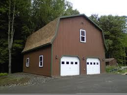 gambrel garage gambrel roof double door garage kauffman building