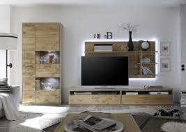 Beleuchtung Wohnzimmer Fernseher Dreams4home Wohnkombination Massiv