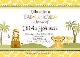 lion king baby shower supplies simba lion king shower invitations baby shower custom