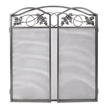 amagabeli 3 panel pewter wrought iron fireplace screen outdoor