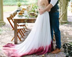 dip dye wedding dress ombre wedding dress etsy