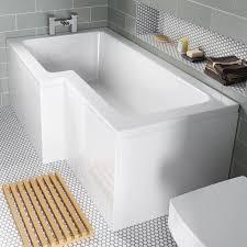 100 l shape shower bath corner bath shower curtain rail l shape shower bath 1700mm l shaped shower bath left hand