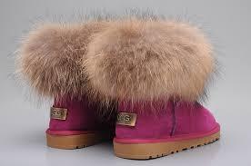womens ugg fur boots style ugg 5854 fox fur boots mini boots