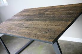 Reclaimed Wood And Iron Dining Table Buy A Hand Made Reclaimed Wood Dining Table Desk Distressed