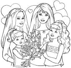 barbies siblings coloring pages barbie coloring pages