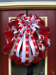 alabama ribbon alabama football wreaths and door decor large 26 inch door