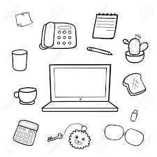 Office Equipment Skills For Resume Icons Of Office Equipment Stock Images Image 21597034 Office