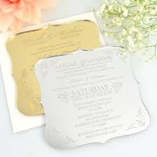 engraved wedding invitations c6 engraved acrylic wedding invitations with rounded edges