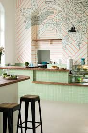 top 25 best sharpie wall ideas on pinterest wall paintings mint and wood kitchen inspiration ministry of the new mumbai cafe monday s large scale mural with coral stripes overlaid with hand drawn monochrome