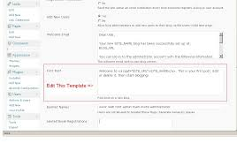 wordpress how to edit first post template for a new blog in