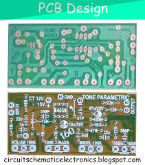 parametric tone control ic4558 and pcb electrónica pinterest