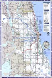 Metro Map Chicago by Chicago Bus Map Chicago Map