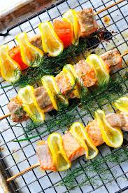 Healthy Fish Dinner Ideas Grilled Citrus Dill And Salmon Kabobs U2013 Best Healthy Bbq Seafood