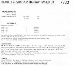 sirdar 7833 crochet blanket in harrap tweed dk pattern pdf