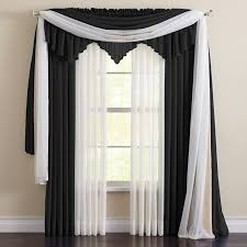 brylanehome studio sheer voile ascot valance brylanehome