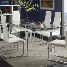 chrome round dining table 70 most marvelous glass kitchen table and chairs dining 4 set white