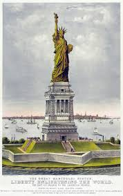 currier and ives 1885 the great bartholdi statue liberty