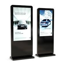 outdoor free standing digital touch screen display totem multi