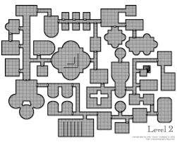 dungeon floor plans map dungeon complex level 2 white
