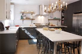 long counter height table stunning kitchen makeover