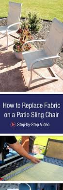 Fixing Patio Chairs Who Knew You Could Replace The Slings On Patio Furniture
