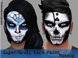Halloween Face Paint Skeleton by Didi The Simmer October 2015
