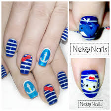 sailor hello kitty nails by neko crafts on deviantart