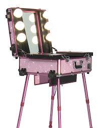 amazon com studio makeup case w lights mirror u0026 legs pink
