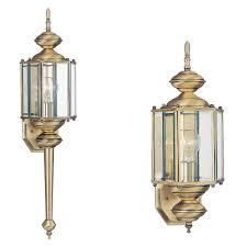 brushed brass light fixtures 8510 01 one light outdoor wall lantern antique brass