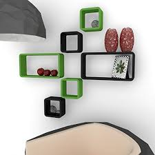 shelf designs storage wall racks 6 cube rectangle green and black