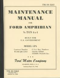 amphibious jeep tm 10 1263 ford gpa maintenance manual g504 amphibious jeep