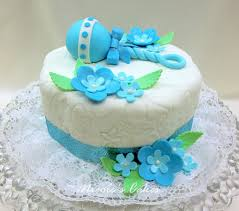 on birthday cakes beautiful blue baby shower cake
