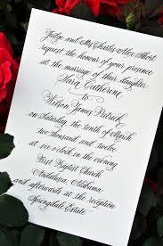 Calligraphy Wedding Invitations Wedding Invitations Calligraphy Wiregrass Weddings