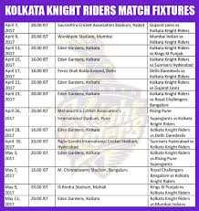 bpl 2017 schedule time table kolkata knight riders ipl 2017 schedule download time table of kkr