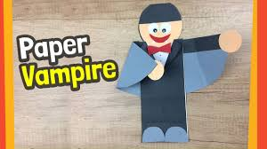 Childrens Halloween Craft Ideas - paper vampire craft fun halloween crafts for kids youtube