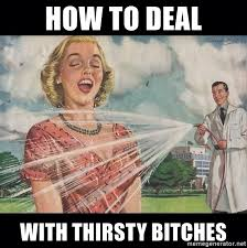 Thirsty Bitches Meme - how to deal with thirsty bitches thirsty 50s woman meme generator