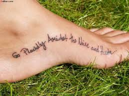 50 most amazing ankle quote tattoos best quote designs on