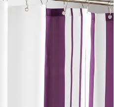 Purple And White Curtains Purple And White Striped Shower Curtains Fabric Contemporary For