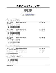 free printable resume templates downloads free printable resumes