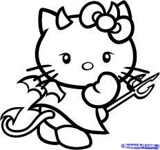 draw kitty draw devil kitty devil